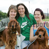Blynne Cummins, Laura Cully, Sabrina Sloane along with dogs Beni and Alex at the pet show during the Markethill festival. 06W32N19