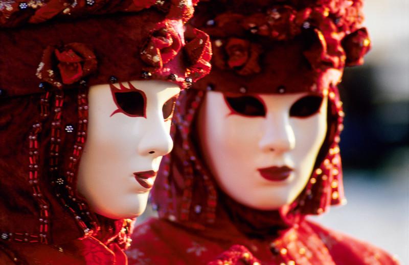 Red Carnival Masks, Venice