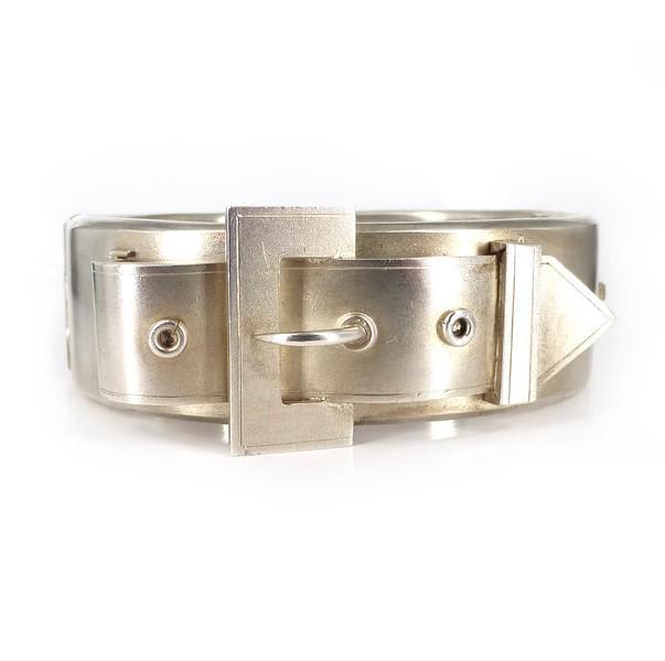 Antique Victorian Silver Cased Buckle Bangle Bracelet
