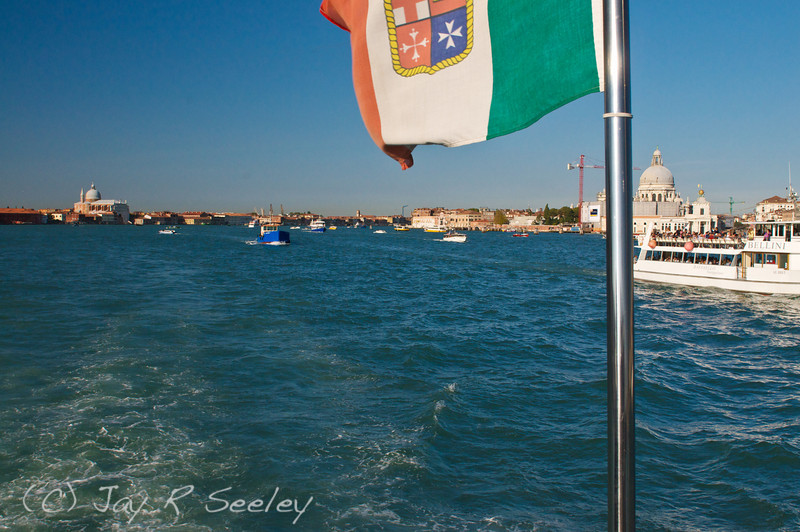 Busy main channel in Venice