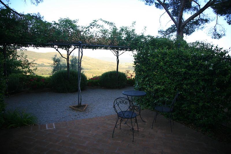 View from our villa at Villa di Monte Solare in Umbria.