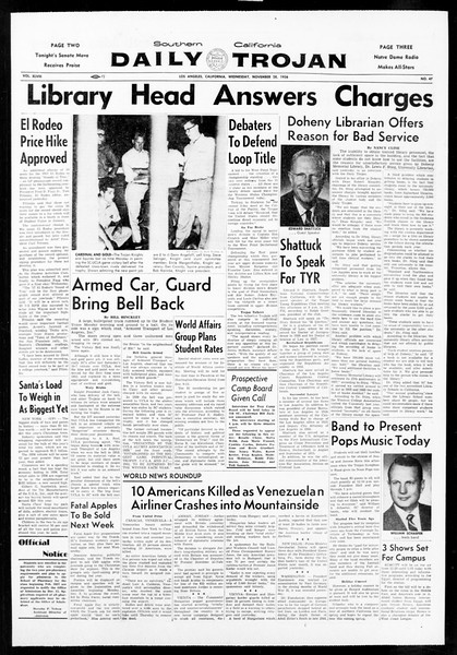 Daily Trojan, Vol. 48, No. 47, November 28, 1956