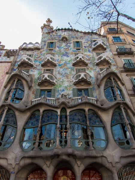 Casa Batlló by architect  Antoni Gaudí.
