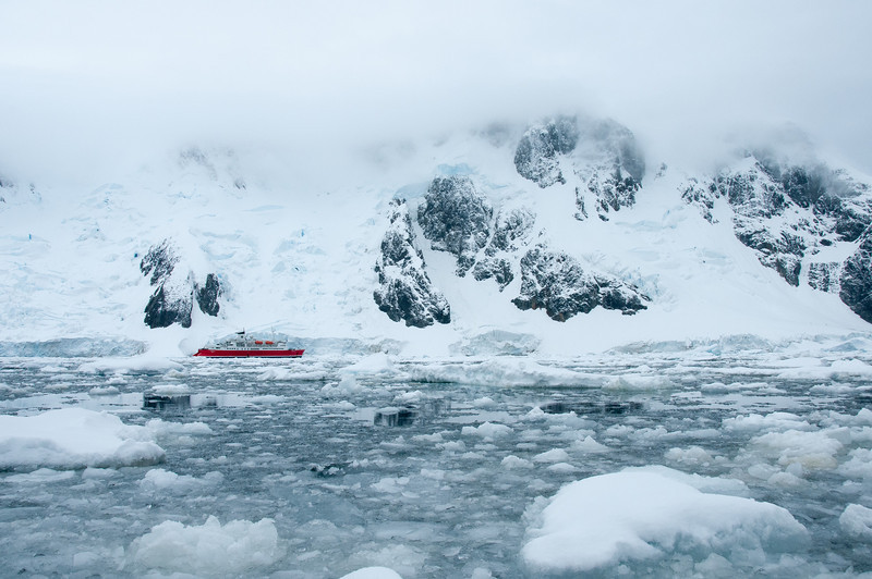 M/S Expedition in Pleneau Bay, Antarctica