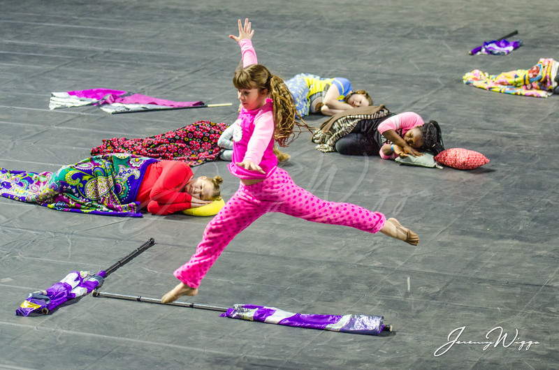 Harlan Middle School Winter Guard
