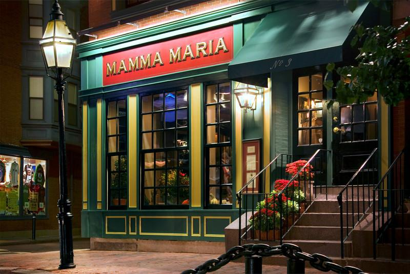"<font size=""3""><I>Mamma Maria</I></font> <font size=""1"">Fine Italian dining in the North End <br>Boston, Mass.</font><br>"