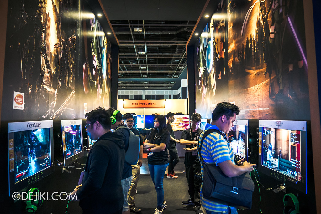 GameStart Asia 2017 Singapore gaming convention - Bandai Namco entertainment