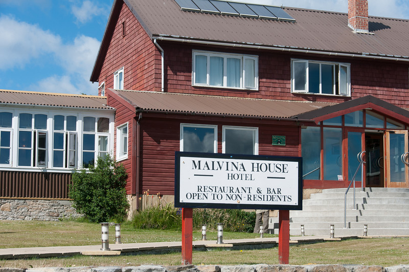 Malvina House in Stanley, Falkland Islands