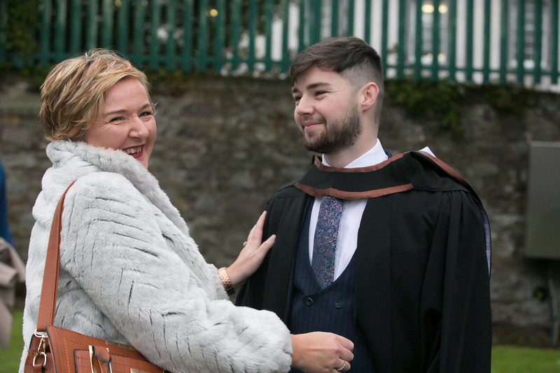 31/10/2018. Waterford Institute of Technology (WIT) Conferring Ceremonies 2018. Pictured are Aaron Coad from Waterford who graduated Bachelor of Arts (Hons) in Accounting, also pictured is his mum Fiona. Picture: Patrick Browne