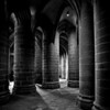 Pillars  in Mont Saint Michel Abbey