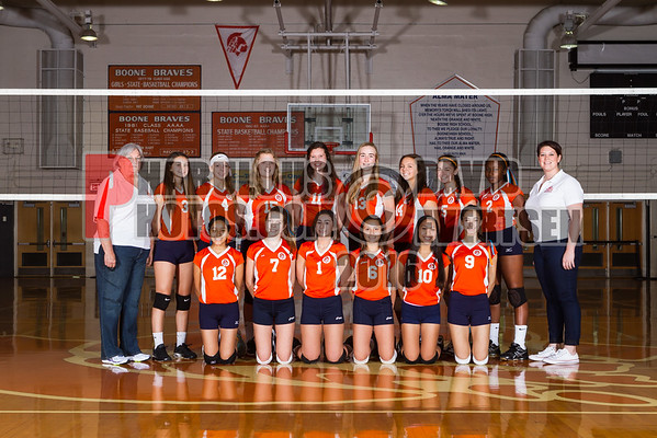 Girls Volleyball Team Photos - 2016