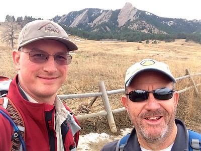 Boulder CO Flatirons Hike 12-4-14