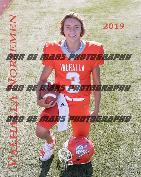 2019 Valhalla Norsemen Varsity Football Team & Individual Photos
