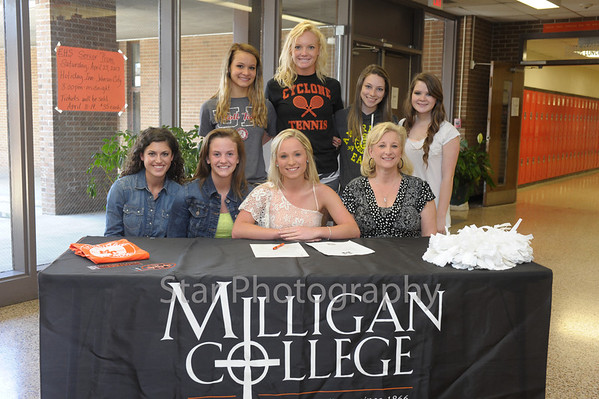 Emily Dugger Signing with Milligan 4-12-2013