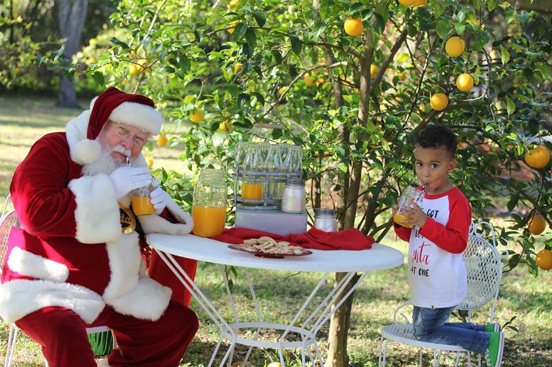 Orange Juice with Santa