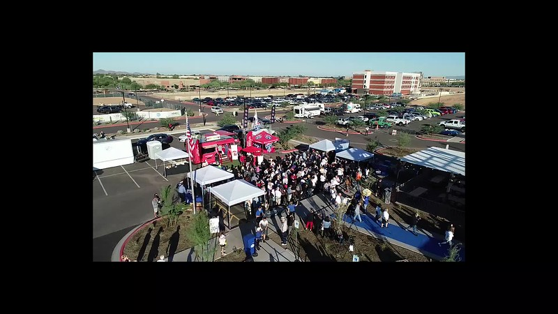 White Castle Grand Opening Drone video of first Cravers Storming the Castle