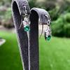 2.00ctw+ Emerald and Diamond Art Deco Conversion Earrings 5