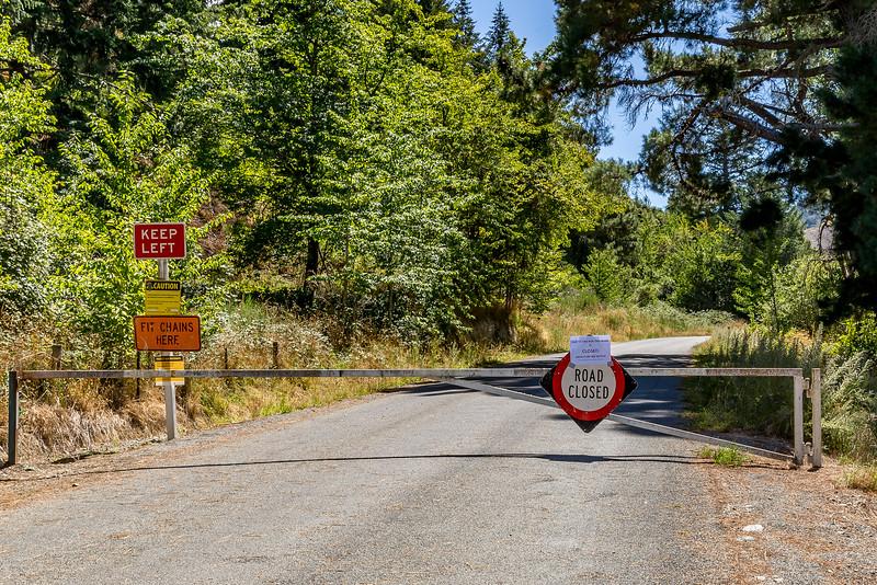 Hanmer Springs: Sämtliche Wanderwege und Zugangsstrassen dazu sind wegen Feuergefahr gesperrt