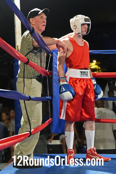 Bout #13 Frank Brown, Cleveland/Westside Boxing -vs- Zi Stalnaker, Akron/Terminator Boxing, 131 lbs
