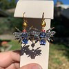 3.93ctw Ceylon Sapphire and Diamond Bee Motif Earrings 13