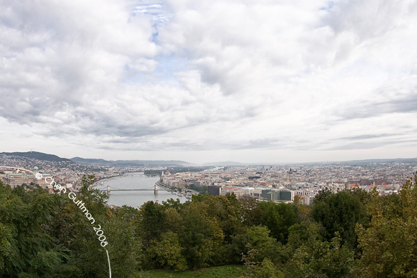 View from a top Gellert hill.