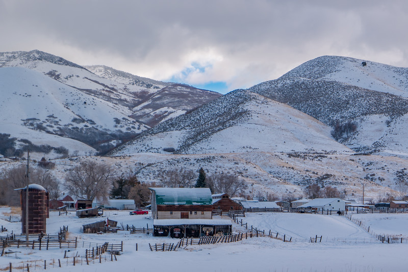 Utah Farm in Winter