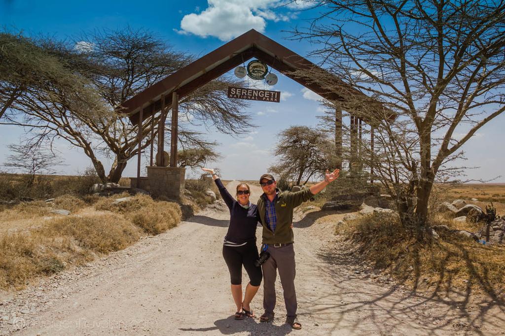Lina and David Stock on Safari in the Serengeti, Tanzania
