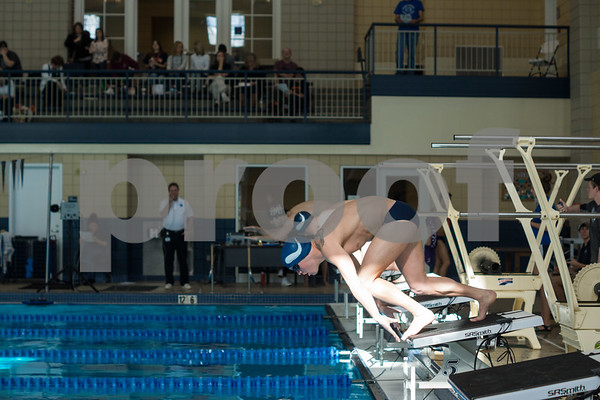 Mens Swimming Vs. Milligan Dual Meet 1/17/15 EM
