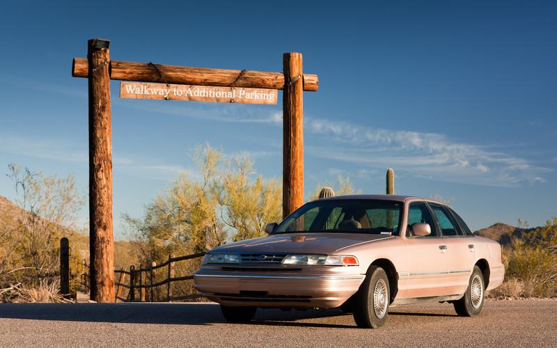 Evčin koráb - Ford Crown Victoria. (http://en.wikipedia.org/wiki/Crown_victoria)