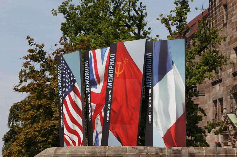 Flags of the Four Countries that presided over the Nuremberg Trials