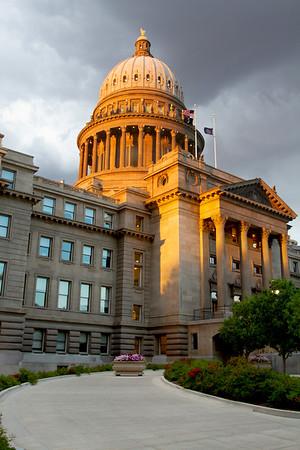 Idaho Capitol Building Sunset