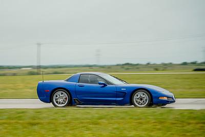 Blue C5 Z06 Corvette