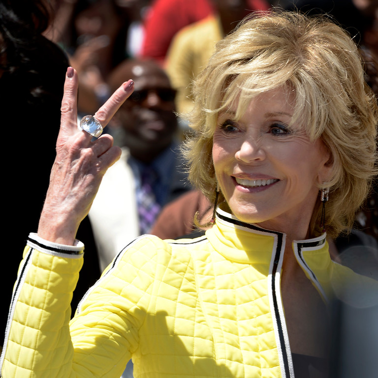 . US actress Jane Fonda attends US actress, singer Jennifer Lopez\' star ceremony on the Hollywood Walk of Fame in Hollywood, California, USA 20 June 2013. Lopez was awarded the 2,500th star on the Hollywood Walk of Fame in the category of Recording.  EPA/PAUL BUCK