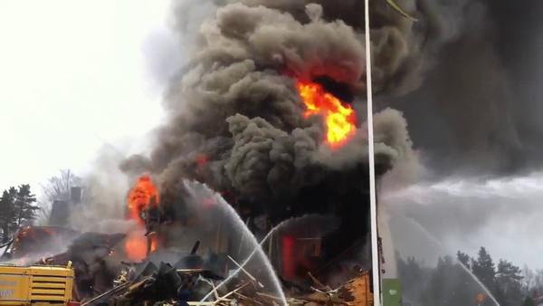Brand Folkets hus Lammhult