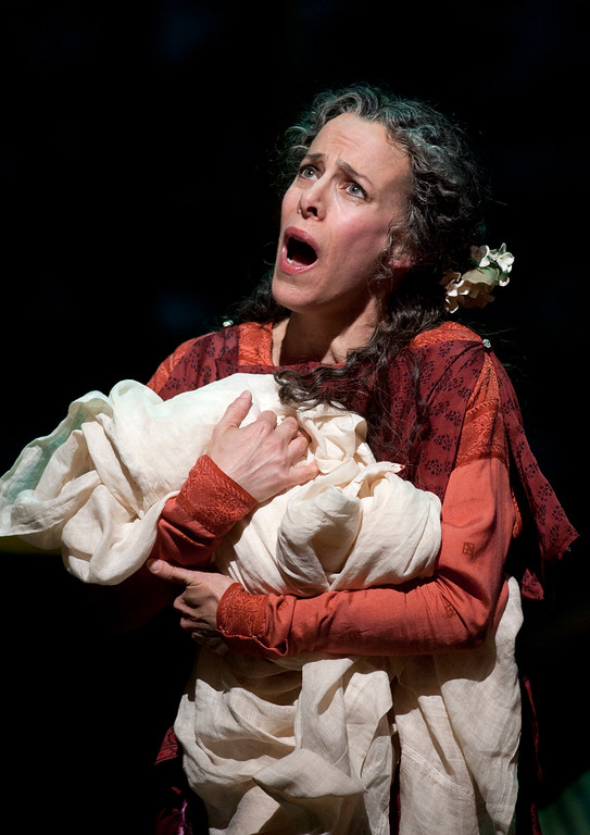 ". Soprano Maria Kanyova portrays Miriam, Yeshua\'s mother, in San Francisco Opera\'s world premiere of Mark Adamo\'s ""The Gospel of Mary Magdalene,\"" Sunday, June 16, 2013 at the War Memorial Opera House in San Francisco. (D. Ross Cameron/Bay Area News Group)"