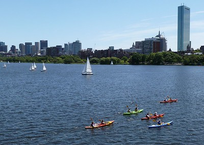Kayaking on the Charles River in Boston