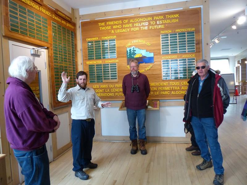 Park Naturalist David LeGros starting tour for WBFN