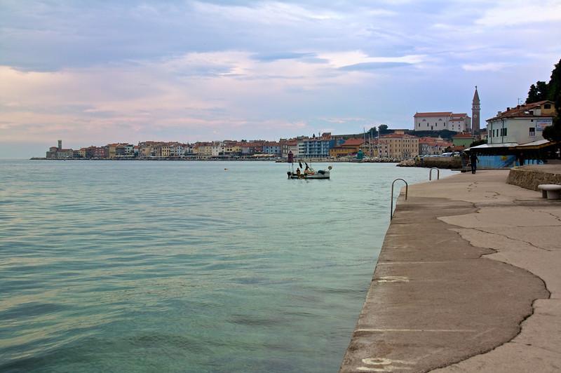 The Adriatic coast at Piran