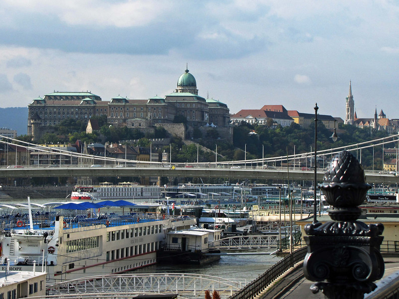 01-Looking downriver: Hungarian National Gallery and Mátyás Church (far right).
