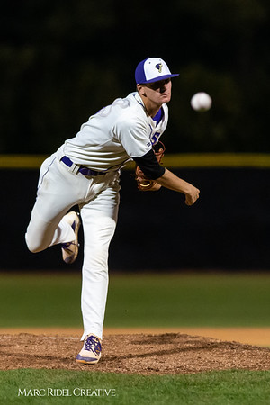 Holly Springs baseball senior Matt Wildness pitches in the Bobby Murray Invitational at Holly Springs High School. April 18, 2019. D4S_8312