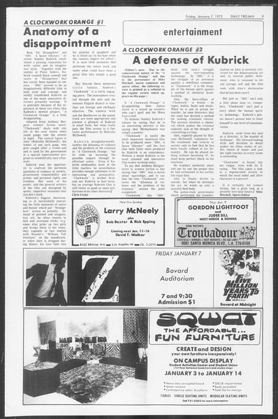 Daily Trojan, Vol. 64, No. 59, January 07, 1972
