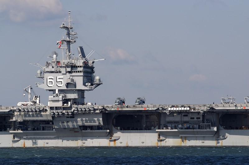 USS Enterprise on one of its final voyages leaving Hampton Roads, VA. © 2005 Kenneth R. Sheide