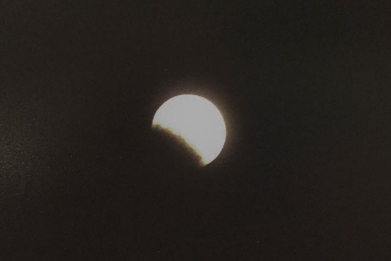 First Attempt at Lunar Eclipse from Tuscan, AZ - c. Jan. 2000