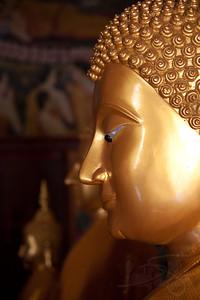 Buddha profile. Pakse, Laos