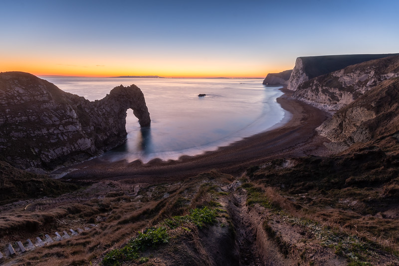 Winter sunset at Durdle Door