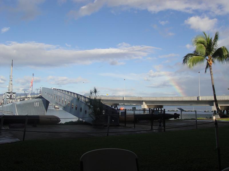 Rainbow Over USS Bowfin