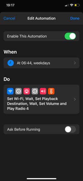 automation settings