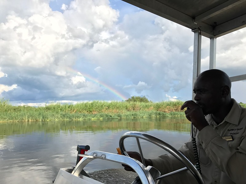 Rainbow on the Zambezi River - Lisa Swenson