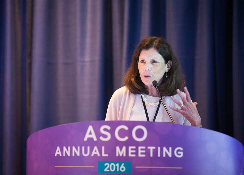 Susan Cohn, MD, delivering Pediatric Oncology Lecture during Pediatric Oncology Award and Lecture