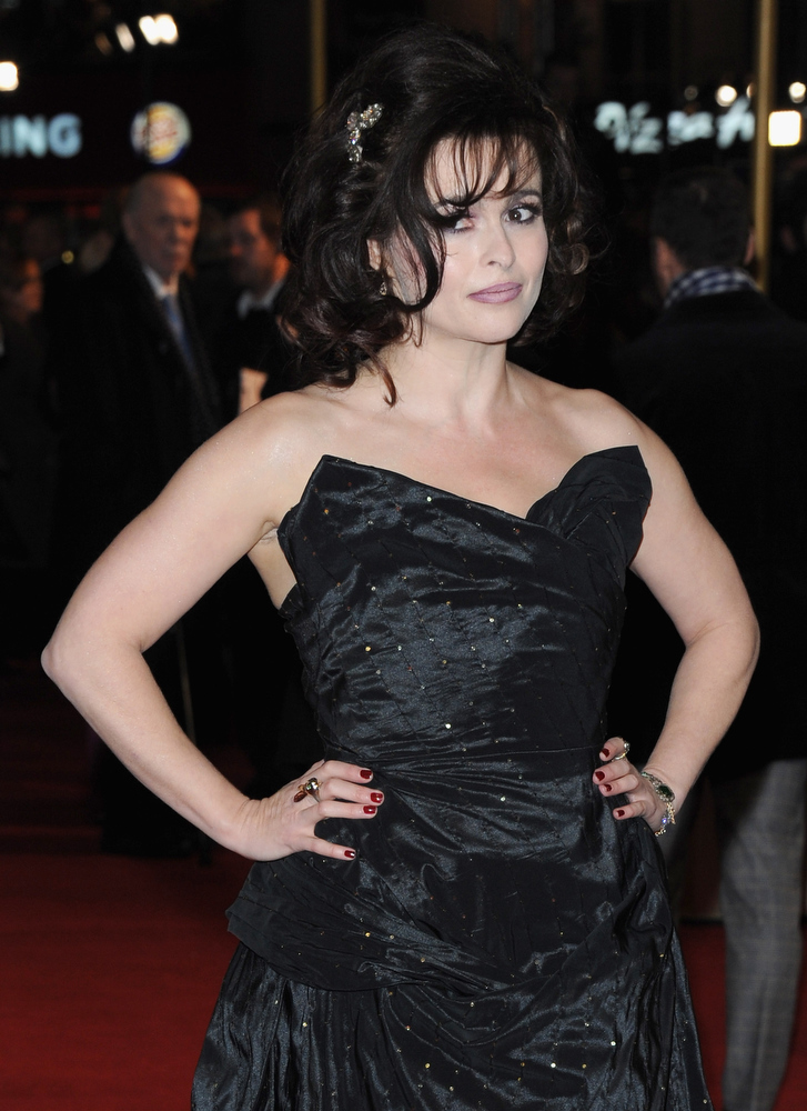 ". Actress Helena Bonham Carter attends the ""Les Miserables\"" World Premiere at the Odeon Leicester Square on December 5, 2012 in London, England.  (Photo by Stuart Wilson/Getty Images)"